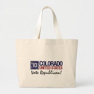Vote Democrat in 2010 – Vintage Colorado Large Tote Bag