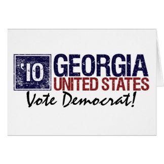 Vote Democrat in 2010 – Vintage Georgia Card