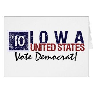 Vote Democrat in 2010 – Vintage Iowa Card