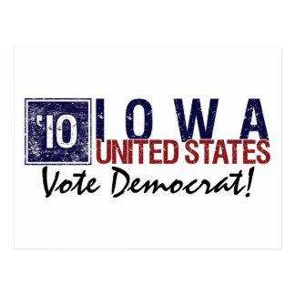 Vote Democrat in 2010 – Vintage Iowa Postcard