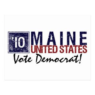 Vote Democrat in 2010 – Vintage Maine Postcard