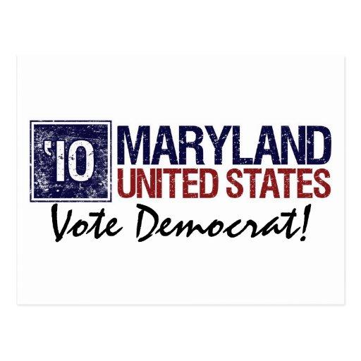 Vote Democrat in 2010 – Vintage Maryland Postcard