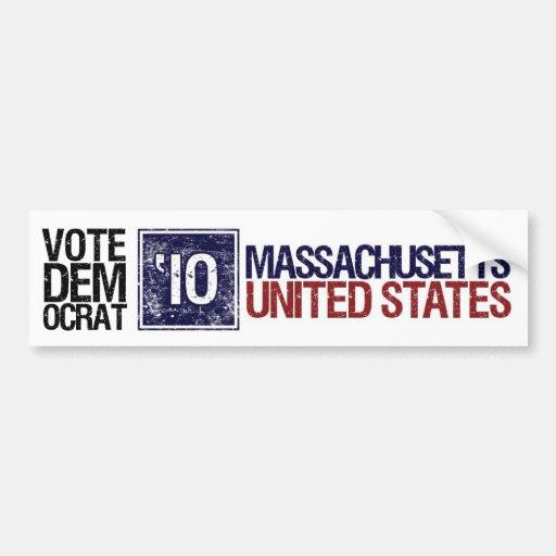 Vote Democrat in 2010 – Vintage Massachusetts Car Bumper Sticker