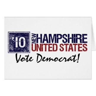 Vote Democrat in 2010 – Vintage New Hampshire Card