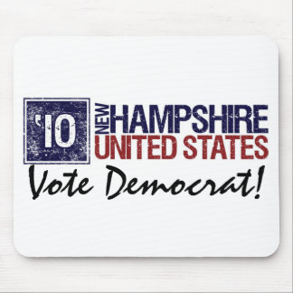 Vote Democrat in 2010 – Vintage New Hampshire Mouse Pad