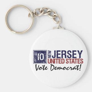 Vote Democrat in 2010 – Vintage New Jersey Keychain