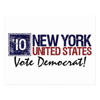 Vote Democrat in 2010 – Vintage New York Postcard