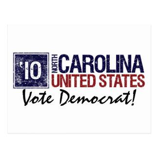 Vote Democrat in 2010 – Vintage North Carolina Postcard