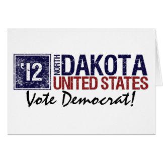 Vote Democrat in 2010 – Vintage North Dakota Greeting Card