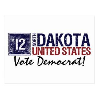 Vote Democrat in 2010 – Vintage North Dakota Postcard