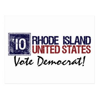 Vote Democrat in 2010 – Vintage Rhode Island Postcard