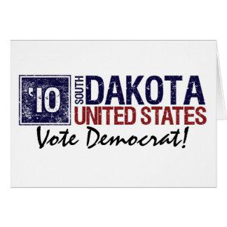 Vote Democrat in 2010 – Vintage South Dakota Greeting Card