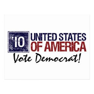 Vote Democrat in 2010 - Vintage United States Postcard