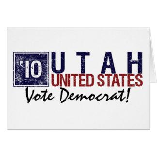 Vote Democrat in 2010 – Vintage Utah Greeting Card