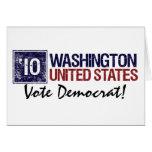 Vote Democrat in 2010 – Vintage Washington Card