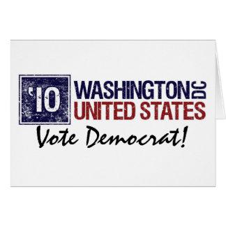Vote Democrat in 2010 – Vintage Washington D.C. Greeting Card