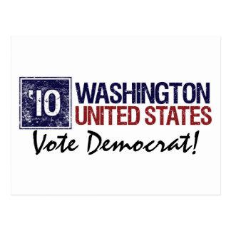 Vote Democrat in 2010 – Vintage Washington Postcard