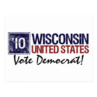 Vote Democrat in 2010 – Vintage Wisconsin Postcard