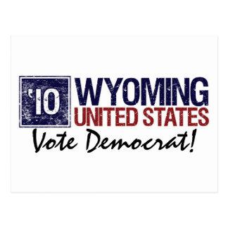 Vote Democrat in 2010 – Vintage Wyoming Postcard
