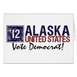 Vote Democrat in 2012 – Vintage Alaska Greeting Card