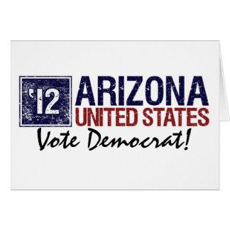 Vote Democrat in 2012 – Vintage Arizona Greeting Card