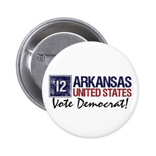 Vote Democrat in 2012 – Vintage Arkansas Button