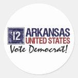 Vote Democrat in 2012 – Vintage Arkansas Classic Round Sticker