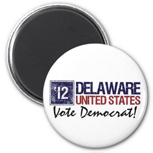 Vote Democrat in 2012 – Vintage Delaware 2 Inch Round Magnet