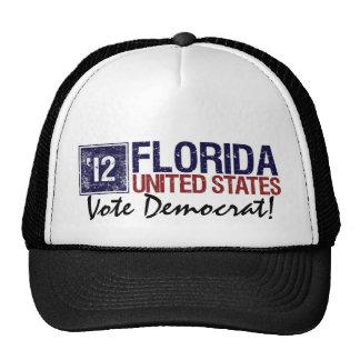 Vote Democrat in 2012 – Vintage Florida Trucker Hat