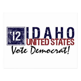 Vote Democrat in 2012 – Vintage Idaho Postcard