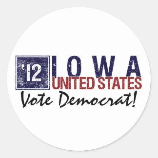Vote Democrat in 2012 – Vintage Iowa Sticker