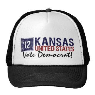 Vote Democrat in 2012 – Vintage Kansas Trucker Hat