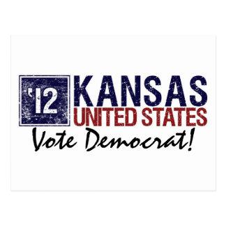 Vote Democrat in 2012 – Vintage Kansas Postcard