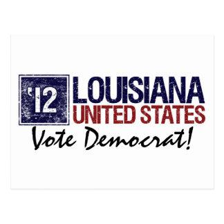 Vote Democrat in 2012 – Vintage Louisiana Postcard