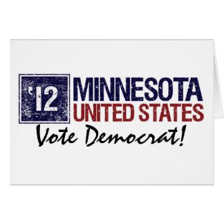 Vote Democrat in 2012 – Vintage Minnesota Card