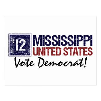Vote Democrat in 2012 – Vintage Mississippi Postcard