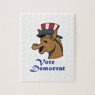 VOTE DEMOCRAT JIGSAW PUZZLE