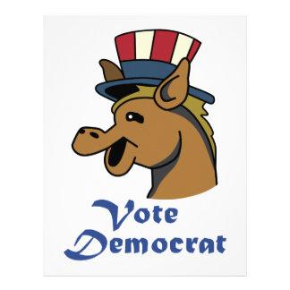 VOTE DEMOCRAT LETTERHEAD