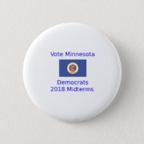 Vote Democrat Minnesota - 2018 Midterm Elections Button