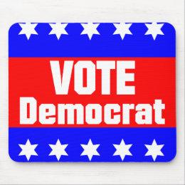 Vote Democrat Mouse Pad