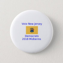 Vote Democrat New Jersey - 2018 Midterm Elections Button