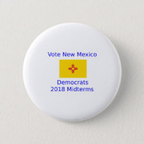 Vote Democrat New Mexico - 2018 Midterm Elections Button