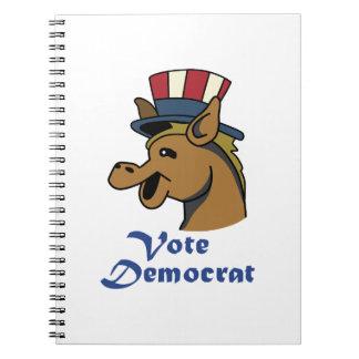 VOTE DEMOCRAT NOTEBOOK
