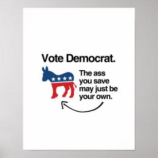 VOTE DEMOCRAT -.png Poster