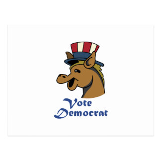 VOTE DEMOCRAT POSTCARD