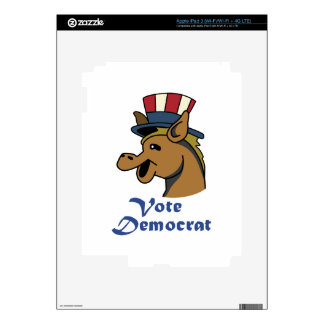 VOTE DEMOCRAT SKIN FOR iPad 3