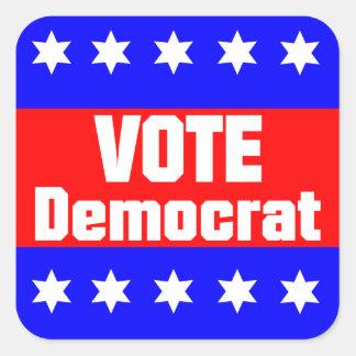Vote Democrat Square Sticker