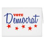 Vote Democrat (Stars) Greeting Cards