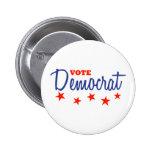 Vote Democrat (Stars) Pinback Button