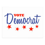 Vote Democrat (Stars) Postcards